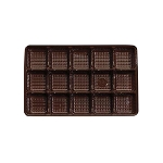 Tray, Rectangle, Brown, 8 oz., 15 Cavity, QTY/CASE-50