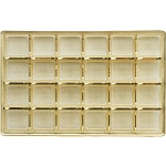 Tray, Rectangle, Gold, 16 oz., 24 Cavity, QTY/CASE-50