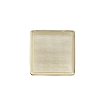 Tray, Square, Gold, 3 oz., Single Cavity, QTY/CASE-50