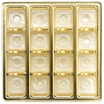 Tray, Square, Gold, 16 oz., 16 Cavity, 7-1/2 x 7-1/2 x 1