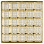 Tray, Square, Gold, 16 oz., 25 cavity, QTY/CASE-50