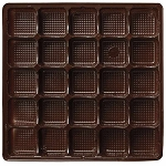 Tray, Square, Brown, 16 oz., 25 Cavity, QTY/CASE-50