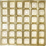 Tray, Square, Gold, 36 Cavity, Gift-Sized, QTY/CASE-50