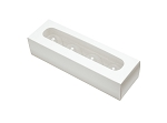 Truffle Window Box, 4-Piece, Rectangle, White, 8 x 2-1/2 x 2