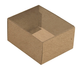 Folding Carton, This Top - That Bottom, Base, 4 oz., Rectangle, Kraft, Double-Layer, QTY/CASE-50