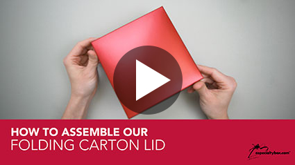 Folding Carton Lid Assembly