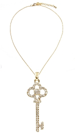 Key to Your Heart, Charm and Necklace, QTY/CASE-12