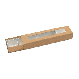 Slider Box, 5-Piece, Standard, Kraft, 8-1/4 x 2 x 1-1/4