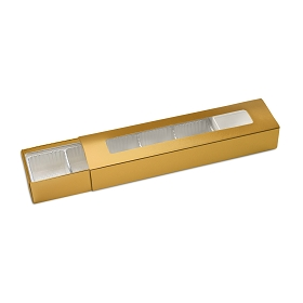 Slider Box, 5-Piece, Standard, Metallic Gold, 8-1/4 x 2 x 1-1/4