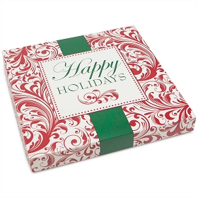 Happy Holidays, Decorative Gift Box, Gift-Sized, 11 x 11 x 1-1/2