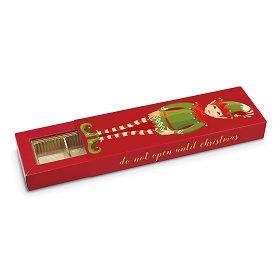 Santa's Little Helper, Decorative Slider Box, 5-Piece, Standard, 9-1/2 x 3 x 1-1/4