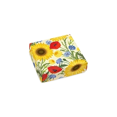 Summer Bouquet, Decorative Gift Box, 3-1/2 x 3-1/2 x 1-1/8