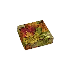 Falling Leaves, Decorative Gift Box, 3-1/2 x 3-1/2 x 1-1/8