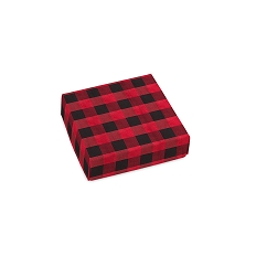 Buffalo Plaid, Decorative Gift Box, 3-1/2 x 3-1/2 x 1-1/8