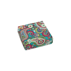 Bright Paisley, Decorative Gift Box, 3-1/2 x 3-1/2 x 1-1/8
