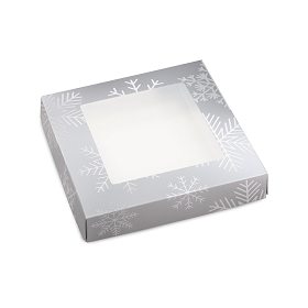Blizzard, Decorative Gift Box with Window, 5-1/2 x 5-1/2 x 1