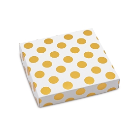 Gold Dots, Decorative Gift Box, 5-1/2 x 5-1/2 x 1