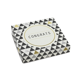Congrats, Decorative Gift Box, 5-1/2 x 5-1/2 x 1