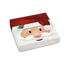 Jolly Santa, Decorative Gift Box, 5-1/2 x 5-1/2 x 1-1/8