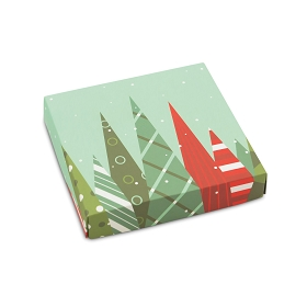 Christmas Trees, Decorative Gift Box, 5-1/2 x 5-1/2 x 1