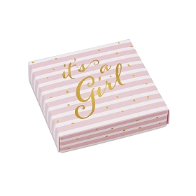 IT'S A GIRL, Decorative Gift Box, 5-1/2 x 5-1/2 x 1