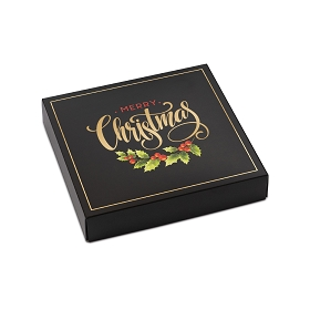 Merry Christmas, Decorative Gift Box, 5-1/2 x 5-1/2 x 1