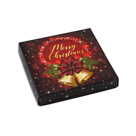 Christmas Bells, Decorative Gift Box, 5-1/2 x 5-1/2 x 1