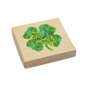 Lucky, Decorative Gift Box, 5-1/2 x 5-1/2 x 1