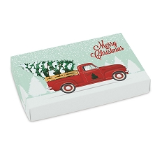Red Truck, Decorative Gift Box, Rectangle, 7-1/8 x 4-1/2 x 1-1/8