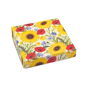 BY THE PIECE, Summer Bouquet, Decorative Gift Box, 5-1/2 x 5-1/2 x 1-1/8