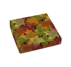 Falling Leaves, Decorative Gift Box, 5-1/2 x 5-1/2 x 1-1/8