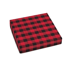 Buffalo Plaid, Decorative Gift Box, 5-1/2 x 5-1/2 x 1-1/8