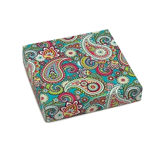 Bright Paisley, Decorative Gift Box, 5-1/2 x 5-1/2 x 1-1/8