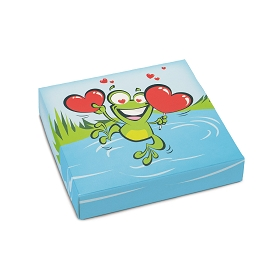 Leaping Frog, Decorative Gift Box, 5-1/2 x 5-1/2 x 1