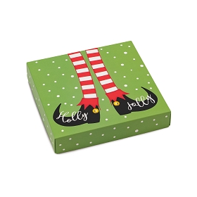Holly Jolly, Decorative Gift Box, 5-1/2 x 5-1/2 x 1