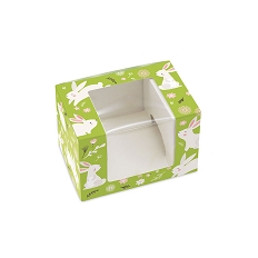 Hoppy Easter, Decorative Gift Box with Window, Rectangle, 4-5/8 x 3-1/8 x 3-1/8