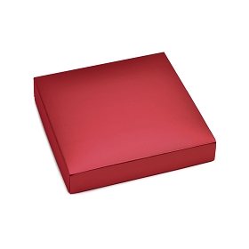 This Top - That Bottom, Lid, Square, Metallic Red, 5-1/2 x 5-1/2 x 1