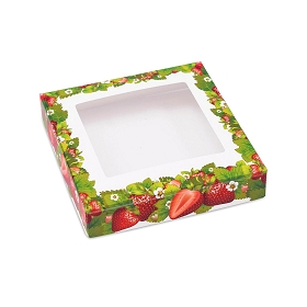Strawberry Fields Decorative Gift Box Lid, 5-1/2 x 5-1/2 x 1