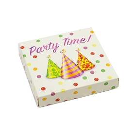 Party Time, Decorative Gift Box, 5-1/2 x 5-1/2 x 1