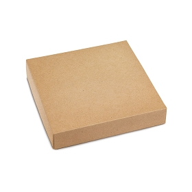 This Top - That Bottom, Lid, Square, Kraft, 5-1/2 x 5-1/2 x 1