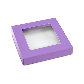 This Top - That Bottom, Window Lid, Square, Lavender, 5-1/2 x 5-1/2 x 1