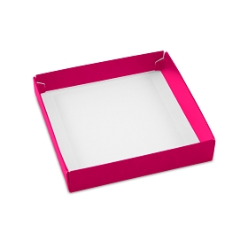This Top - That Bottom, Base, Square, Hot Pink, Single-Layer, 5-1/2 x 5-1/2 x 1