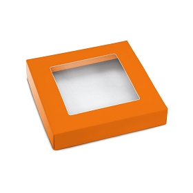 This Top - That Bottom, Window Lid, Square, Orange, 5-1/2 x 5-1/2 x 1