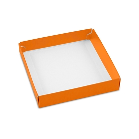 This Top - That Bottom, Base, Square, Orange, Single-Layer, 5-1/2 x 5-1/2 x 1