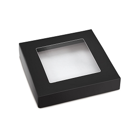 This Top - That Bottom, Window Lid, Square, Black, 5-1/2 x 5-1/2 x 1