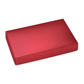 This Top - That Bottom, Lid, Rectangle, Metallic Red, 7 x 4-1/2 x 1