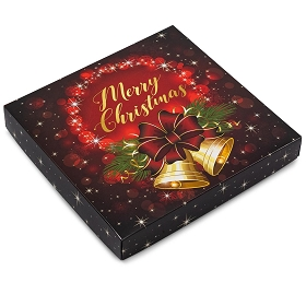 Christmas Bells, Decorative Gift Box, 7-1/2 x 7-1/2 x 1