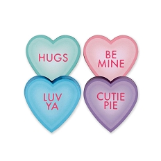 Heart Shaped Candy Box, Pastel Heart Talk Group, 2 oz., QTY/CASE-24