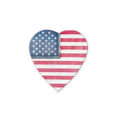 Heart Shaped Candy Box, Denim Flag, 2 oz., QTY/CASE-48