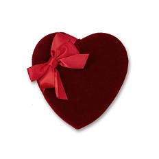Heart Shaped Candy Box, Red Velvet, 4 oz., QTY/CASE-48